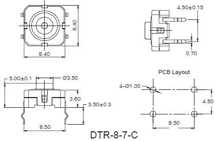 Tact Switches DTR-8-7-C