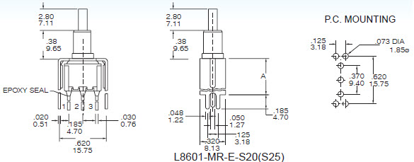 Pushbutton Switches L8601-S20