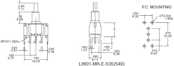 Pushbutton Switches L8601-S35