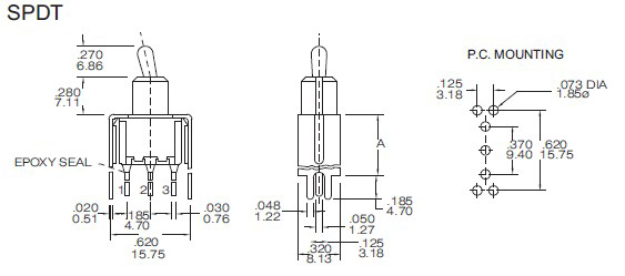 Toggle Switches T8013-S20