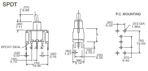 Toggle Switches T8013-S35