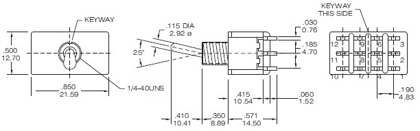 Toggle Switches T8401